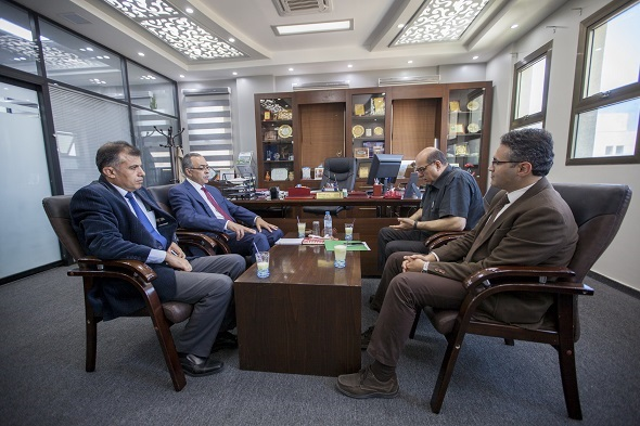Dr Nidal Jayyousi The Manager Of National ERASMUS Officer In Palestine Visited